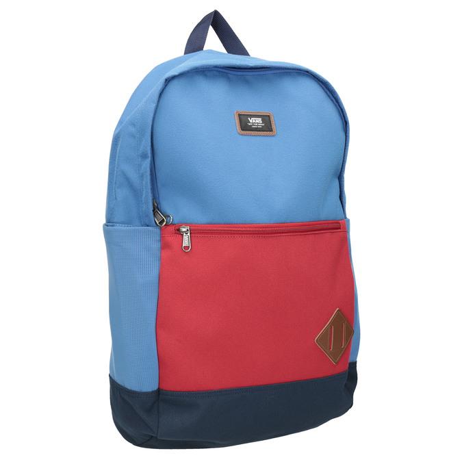 Niebieski plecak zczerwoną kieszenią vans, niebieski, 969-9095 - 13