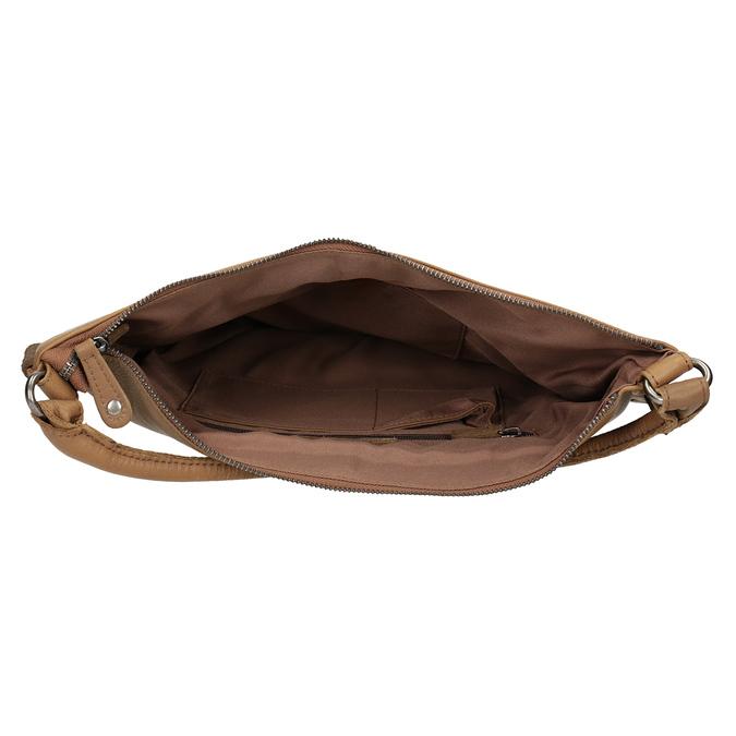 Skórzana torebka zprzeplatanymi paskami fredsbruder, brązowy, 963-3005 - 15