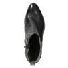 Skórzane botki zmetalowymi ćwiekami bata, czarny, 696-6652 - 15