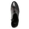 Skórzane botki damskie na słupkach bata, szary, 796-2650 - 15