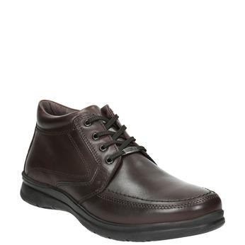Zimowe skórzane buty męskie, brązowy, 894-4686 - 13