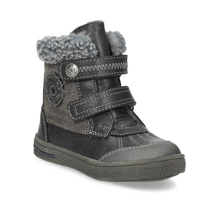 Zimowe buty dziecięce zociepliną bubblegummer, szary, 191-4619 - 13