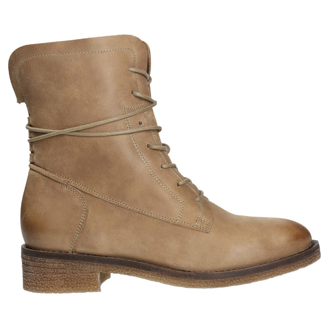 Skórzane buty sznurowane damskie bata, brązowy, 596-4663 - 26