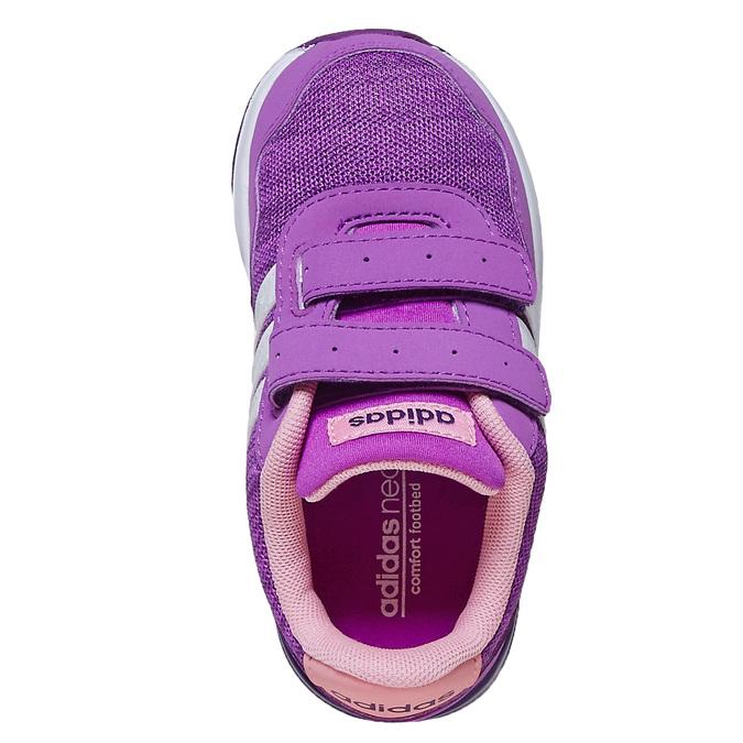 Fioletowe trampki dziecięce adidas, fioletowy, 109-5157 - 19
