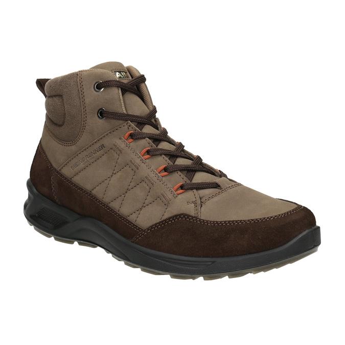 Skórzane obuwie męskie weinbrenner, brązowy, 846-4647 - 13
