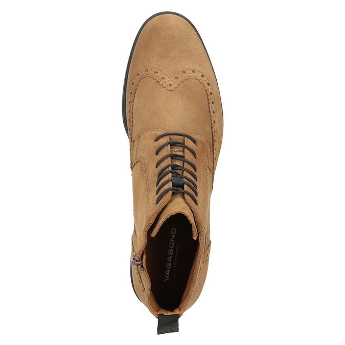 Skórzane buty męskie za kostkę vagabond, brązowy, 823-3016 - 15