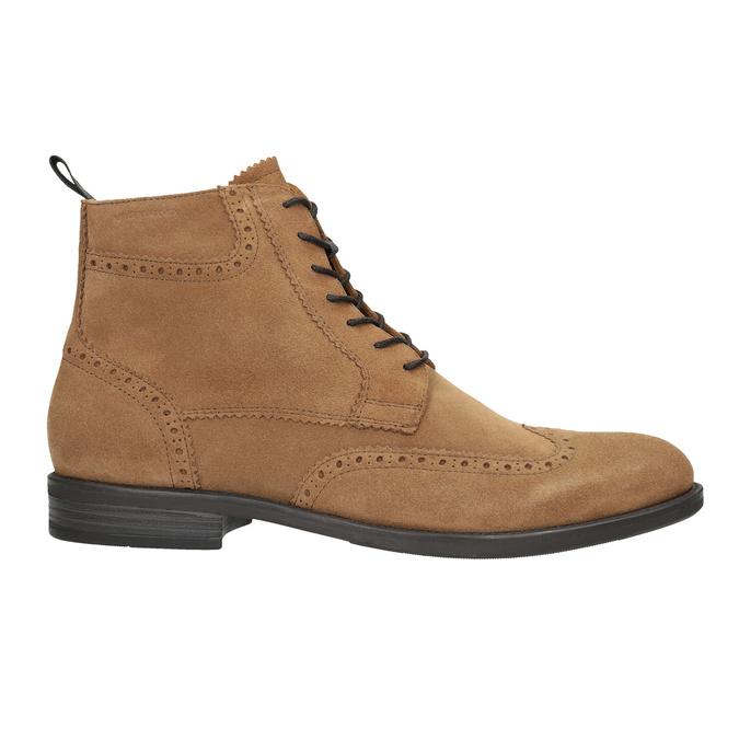 Skórzane buty męskie za kostkę vagabond, brązowy, 823-3016 - 26