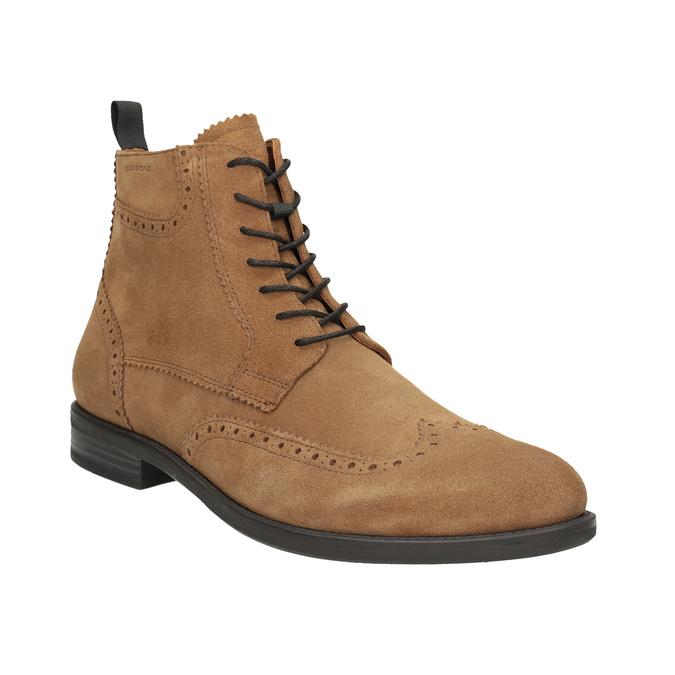 Skórzane buty męskie za kostkę vagabond, brązowy, 823-3016 - 13