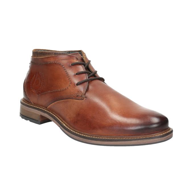 Skórzane buty męskie za kostkę bugatti, brązowy, 826-3005 - 13