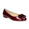 Skórzane baleriny damskie hogl, czerwony, 528-5072 - 13