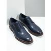 Niebieskie nieformalne półbuty ze skóry bata, niebieski, 826-9681 - 18