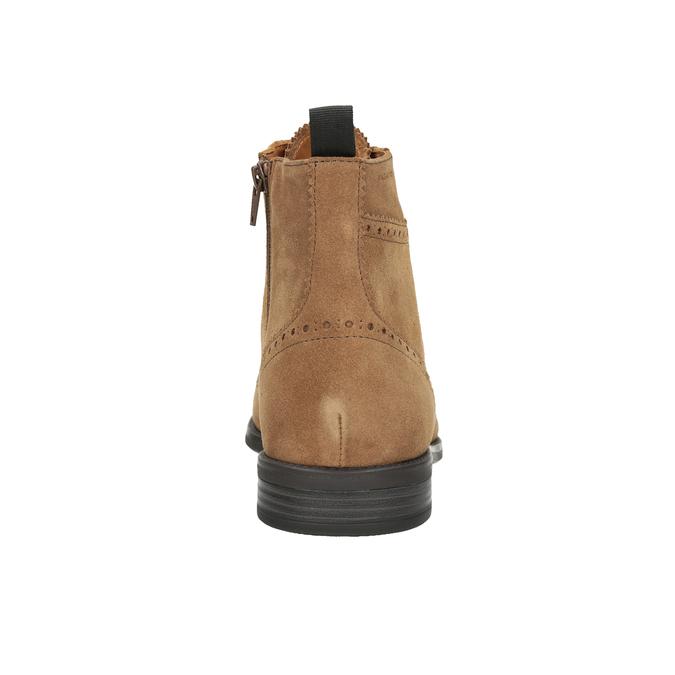 Skórzane buty męskie za kostkę vagabond, brązowy, 823-3016 - 16