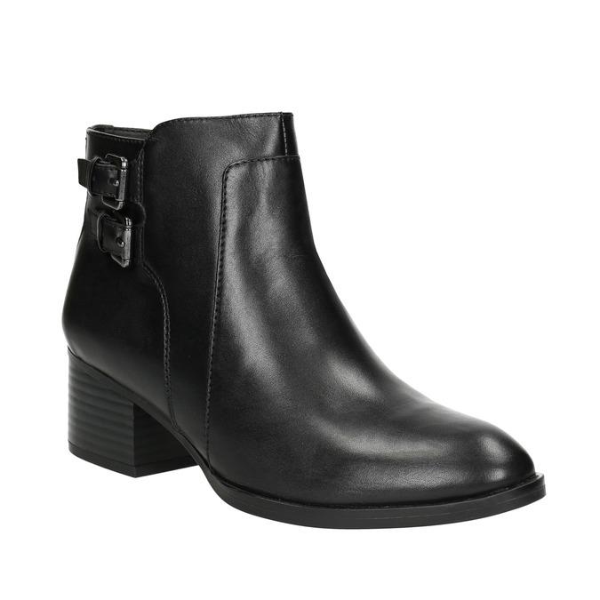 Skórzane botki bata, czarny, 696-6650 - 13
