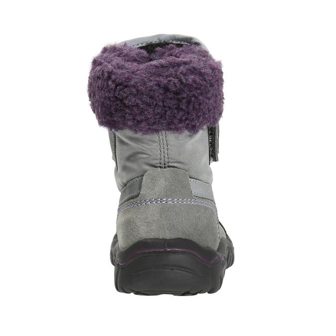 Dziewczęce obuwie zimowe z futerkiem bubblegummer, szary, 193-2601 - 17