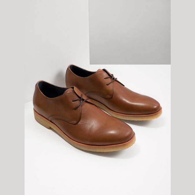 Skórzane półbuty na nieformalnej podeszwie bata, brązowy, 826-3412 - 14