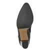 Skórzane botki damskie bata, czarny, 794-6650 - 19
