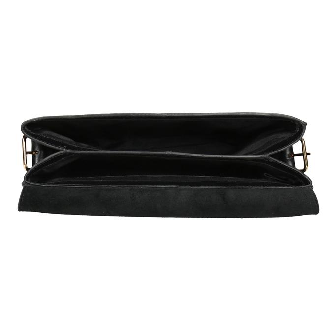 Czarna skórzana torebka typu crossbody vagabond, czarny, 964-6086 - 15