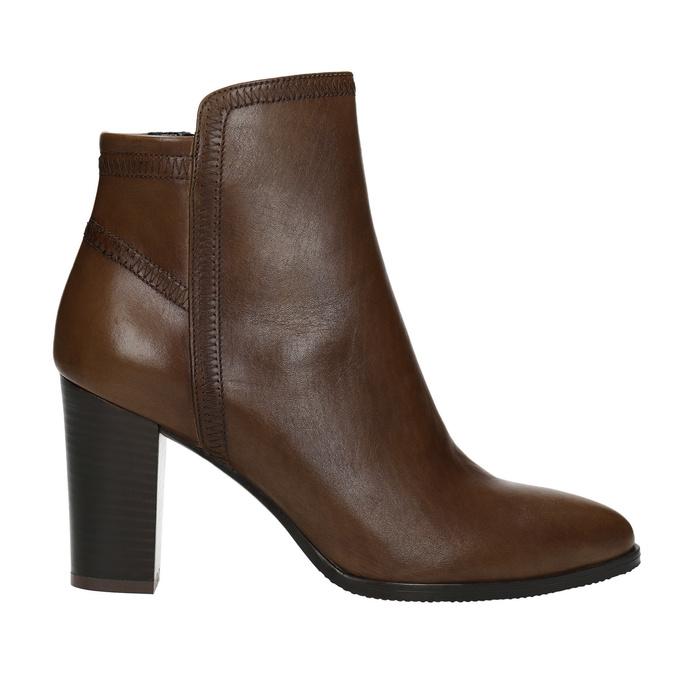 Skórzane botki bata, brązowy, 794-4650 - 26