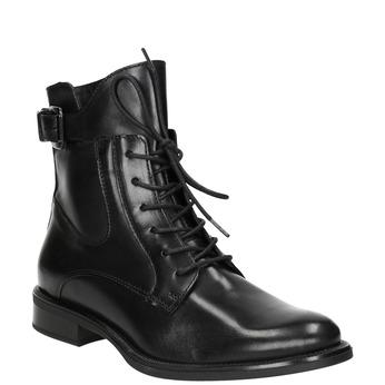 Skórzane botki damskie bata, czarny, 596-6680 - 13