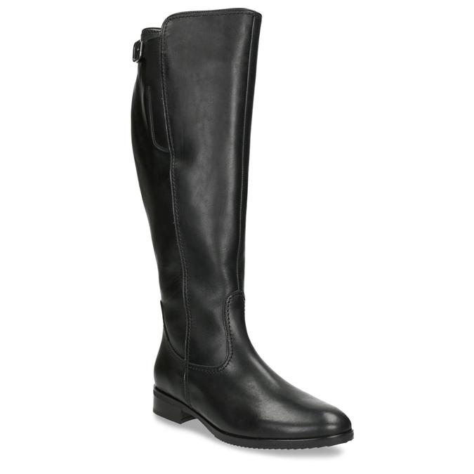 Czarne skórzane kozaki damskie gabor, czarny, 694-6164 - 13