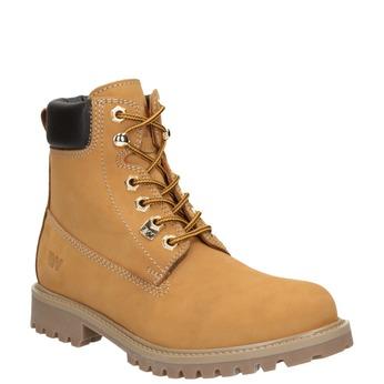 Skórzane buty za kostkę na grubej podeszwie weinbrenner, brązowy, 596-4664 - 13