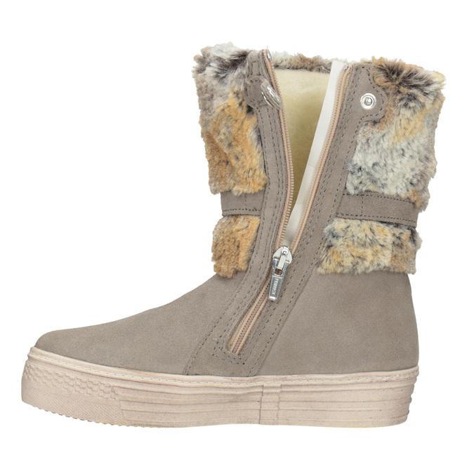 Zimowe buty dziecięce zfuterkiem primigi, beżowy, 393-8015 - 15