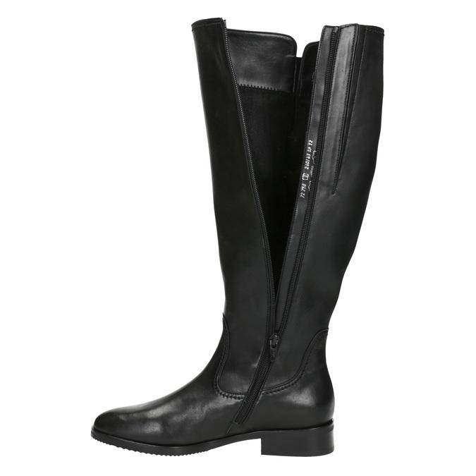 Czarne skórzane kozaki damskie gabor, czarny, 694-6164 - 15