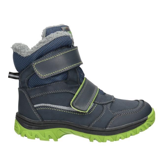Zimowe buty dziecięce na rzepy mini-b, niebieski, 491-9654 - 26