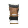 Zimowe buty dziecięce na rzepy, brązowy, 399-3018 - 16