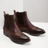 Skórzane obuwie typu chelsea ze ornamentami brogue bata, brązowy, 596-4683 - 18