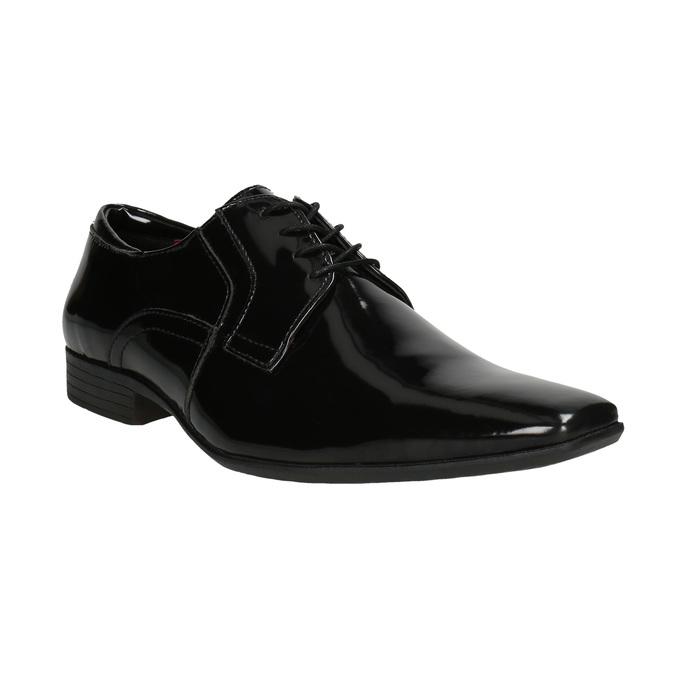 Lakierowane półbuty męskie bata, czarny, 821-6601 - 13