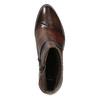 Skórzane botki damskie bata, brązowy, 696-4653 - 15
