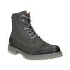 Skórzane obuwie męskie na kontrastowej podeszwie weinbrenner, szary, 896-2702 - 13