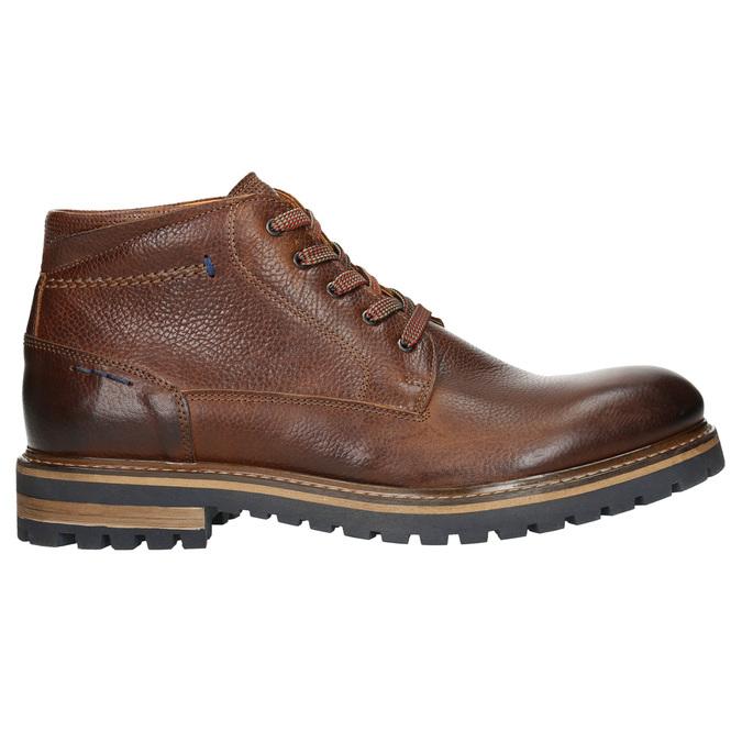 Męskie skórzane buty zimowe bata, brązowy, 894-3672 - 15