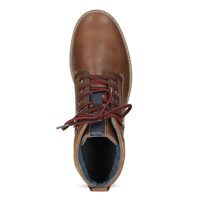 Zimowe obuwie męskie za kostkę bata, brązowy, 896-3677 - 17