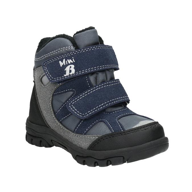 Zimowe buty dziecięce na rzepy mini-b, szary, 291-2626 - 13