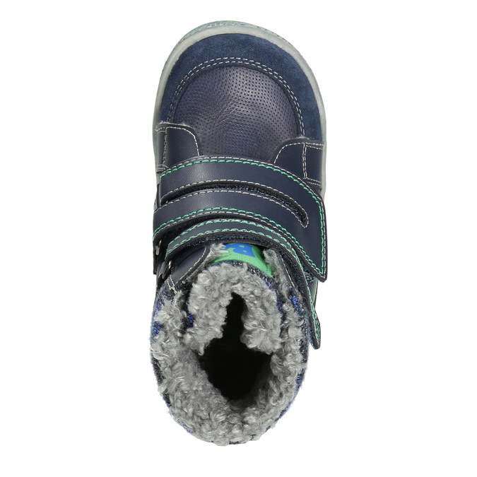 Zimowe buty dziecięce zociepliną bubblegummer, niebieski, 114-9611 - 26