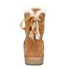 Damskie skórzane walonki bata, brązowy, 593-4604 - 17