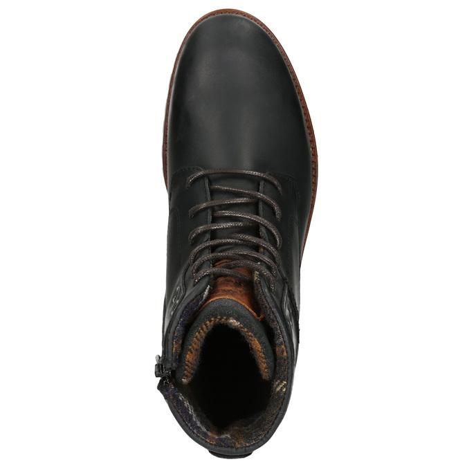 Męskie buty za kostkę bata, czarny, 896-6665 - 26