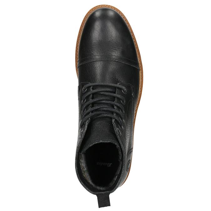 Skórzane buty męskie za kostkę bata, czarny, 896-6667 - 26