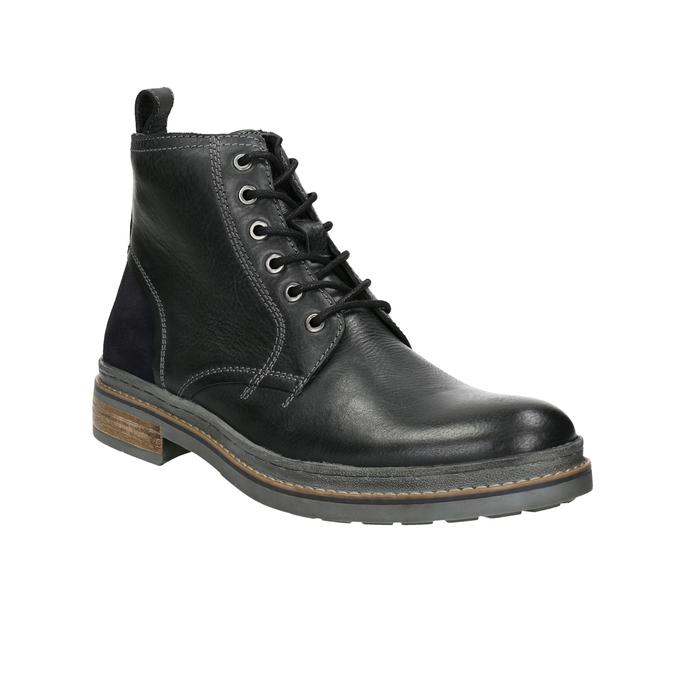 Skórzane buty zimowe za kostkę bata, czarny, 896-6685 - 13