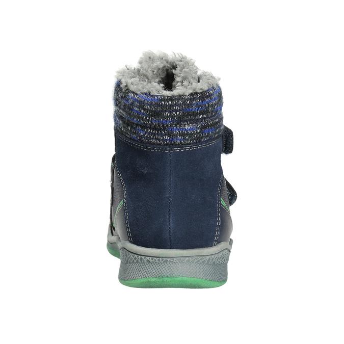 Zimowe buty dziecięce zociepliną bubblegummer, niebieski, 114-9611 - 17