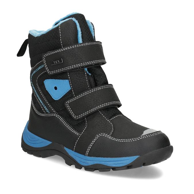 Zimowe buty dziecięce na rzepy mini-b, czarny, 491-6653 - 13