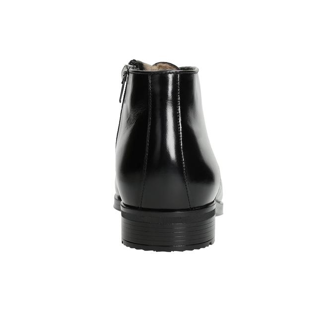 Skórzane ocieplane buty za kostkę conhpol, czarny, 894-6700 - 16
