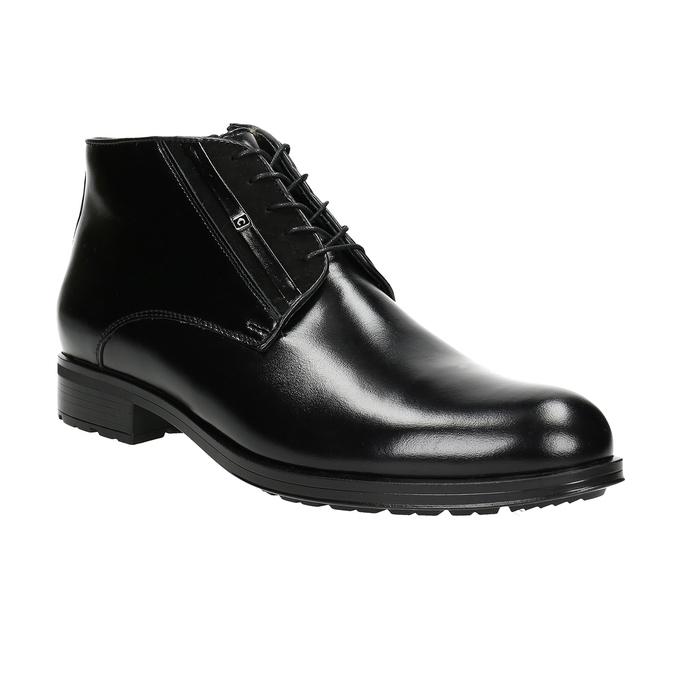 Skórzane ocieplane buty za kostkę conhpol, czarny, 894-6700 - 13