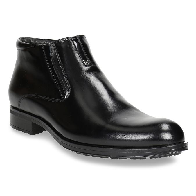Ocieplane buty męskie za kostkę conhpol, czarny, 894-6698 - 13