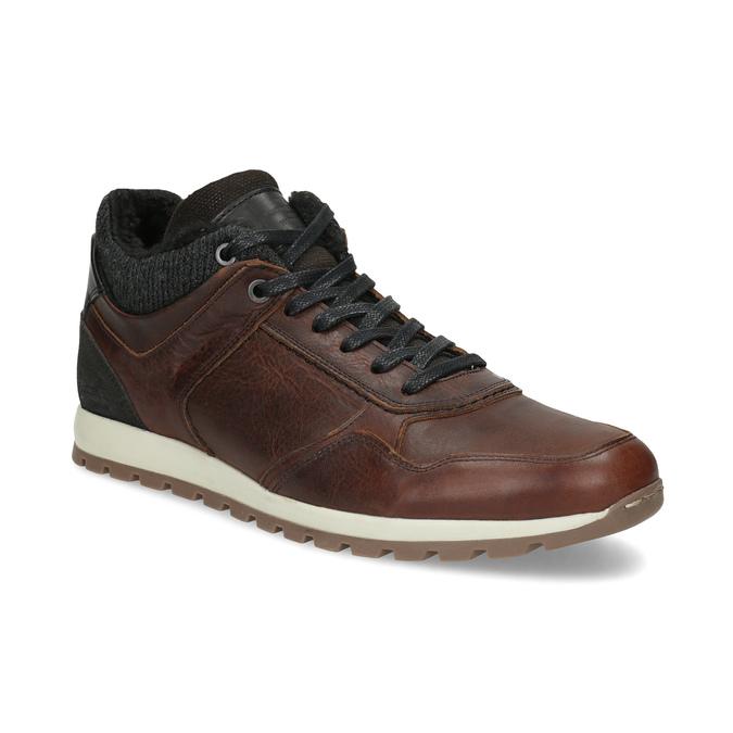 Zimowe obuwie ze skóry bata, brązowy, 846-4646 - 13