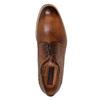 Skórzane półbuty męskie ze zdobieniami brogue conhpol, brązowy, 826-3921 - 15