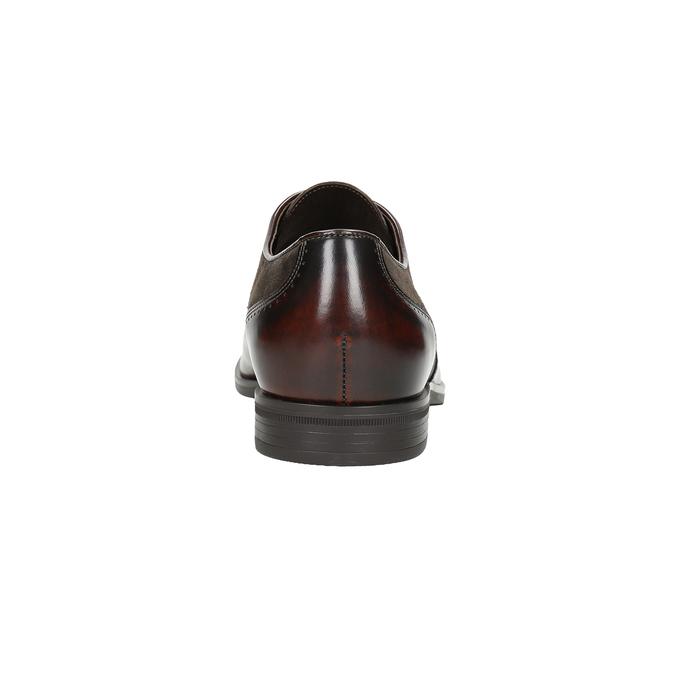 Skórzane półbuty męskie typu angielki conhpol, brązowy, 826-4922 - 16