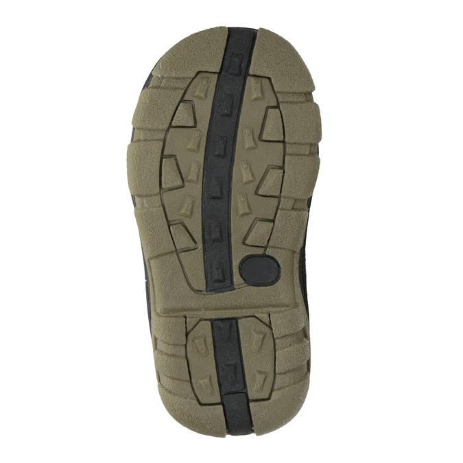 Zimowe buty dziecięce na rzepy bubblegummer, brązowy, 111-4623 - 17